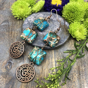 Aqua Autumn DIY Earrings by Halcraft Collection