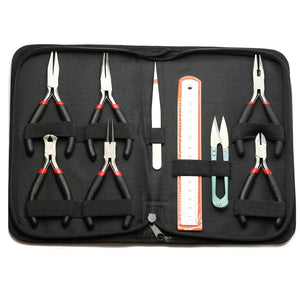 Beginner 9 Piece Plier Set with Storage CaseTool by Halcraft Collection