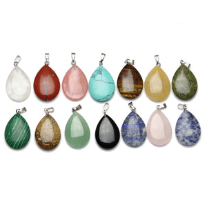 Pendant, Pendants, Semi-precious, Semi-precious Pendant, Semi-precious Pendants, Stone, Stone Pendants, Stone Pendants, Semi Precious, Semi Precious Pendant, Semi Precious Pendants, Teardrop, Teardrop Pendant, 15x25mm, 15mm, 25mm, Multi, Multi Color Pendant, Polished, Assortment, Bundle, Mixed, Pendant Bundle, Pendant Assortment, Mixed Pendant