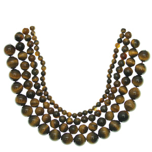 Multi-pack - Yellow Tiger Eye Round Stone Beads (sizes 4mm , 6mm , 8mm , 10mm )