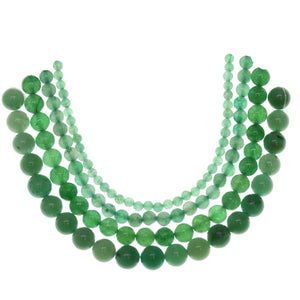 Multi-pack - Green Aventurine Round Stone Beads (sizes 4mm, 6mm, 8mm, 10mm)