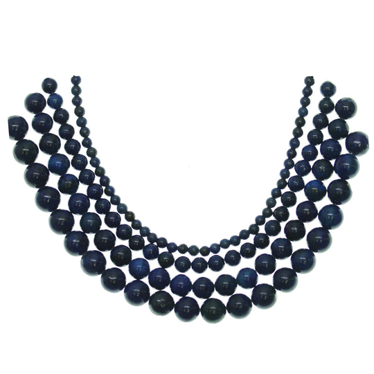 Multi-pack - Reconstituted Lapis Round Stone Beads (sizes 4mm , 6mm , 8mm , 10mm )