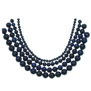 Multi-pack - Reconstituted Lapis Round Stone Beads (sizes 4mm, 6mm, 8mm, 10mm)