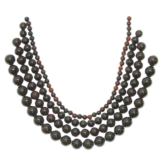 Multi-pack - Garnet Round Stone Beads (sizes 4mm , 6mm , 8mm , 10mm )