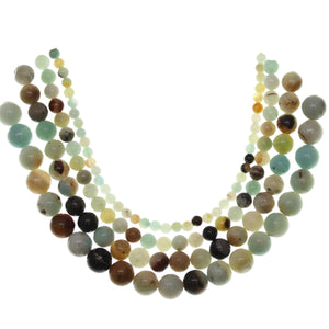 Multi-pack - Amazonite Round Stone Beads (sizes 4mm , 6mm , 8mm , 10mm )