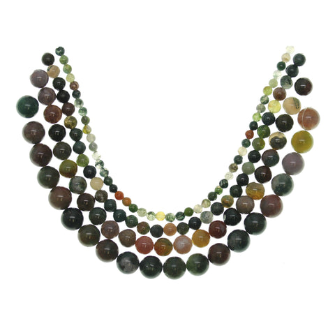 Multi-pack - Fancy Jasper Round Stone Beads (sizes 4mm, 6mm, 8mm, 10mm)