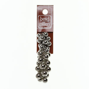 CCB (Plated Acrylic-Lightweight) Silver Plated Ball MixBeads by Halcraft Collection