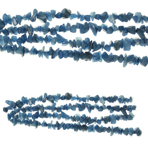 Blue Dyed Quartzite Stone Chips