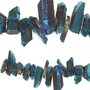 Dyed Blue Iris Natural Quartz Crystal Stone Crystals