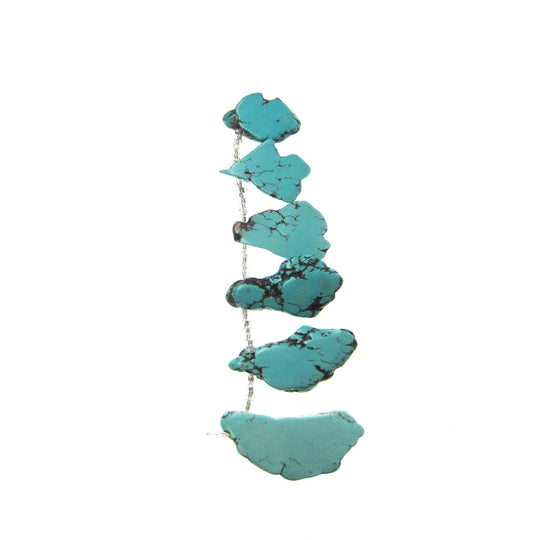 Turquoise Dyed Howlite 30-45mm Slabs Stone