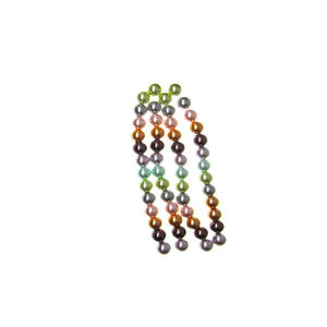 Glass Pearl Coated Multi Color 10mm  Round