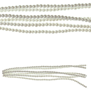 White Glass Coated Pearl 4mm RoundBeads by Halcraft Collection