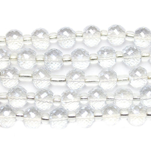 Crystal Glass Thick Rondell 6x8mm Beads by Halcraft Collection