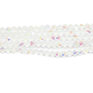 Crystal AB Glass Faceted 3mm  RoundBeads by Halcraft Collection