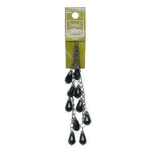 Vidrio Negro Facetado 10x15 Dangle Lágrima
