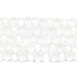 Crystal Glass Faceted Mix