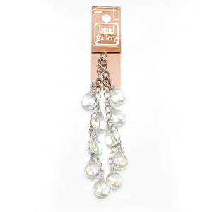 Glass Dangle Chain Crystal 14mm