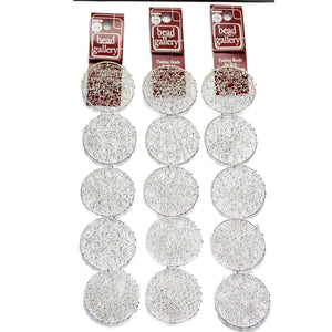 Super Bundle - Silver Tone Wire Round 40mm Beads(3Packs/15Pieces)Beads by Halcraft Collection