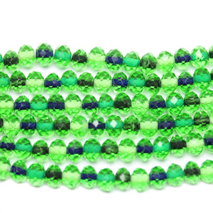 Green Glass Rondell Mix 4x6mm Beads by Halcraft Collection