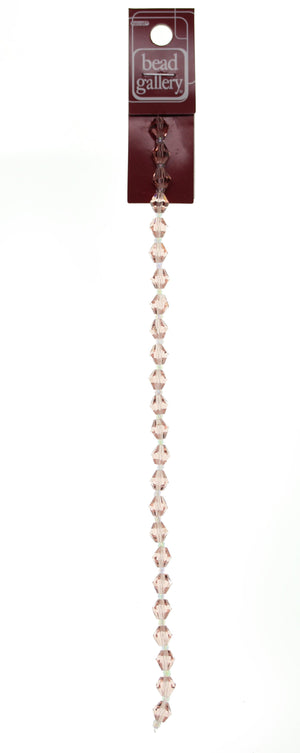 Glass Pink Transparent Faceted 8mm Bicone