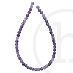Amethyst Faceted Round ( C grade)