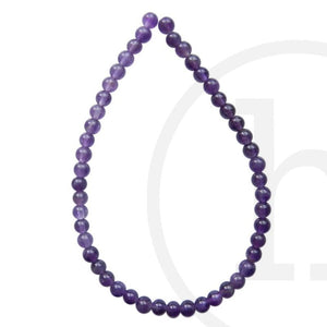 Semi-Precious, Stone Amethyst Round (B quality)Beads by Halcraft Collection