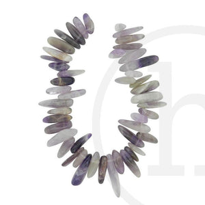Stone Beads, Stone, Stone Bead, Stone, Beads, Semi-precious, Stone, Amethyst, Nugget, Teeth, Purple