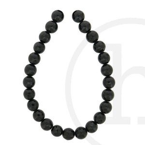 Black Agate Faceted Round Bead 8mm
