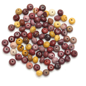 Super Bundle - Mookiate Stone Rondell 4x6mm Beads(3Packs/90Pieces)Beads by Halcraft Collection