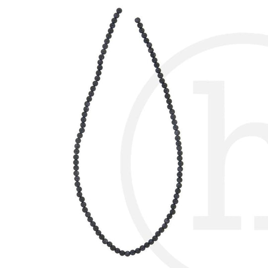 Simulated Stone Blue Glass Goldstone RoundBeads by Halcraft Collection