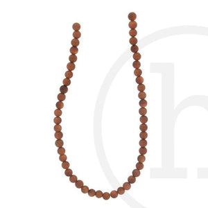 Simulated Goldstone With Copper Flakes RoundBeads by Halcraft Collection