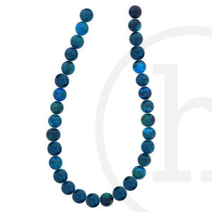 Chrysocolla Round Stone ( B grade) Beads 6mm Beads by Halcraft Collection