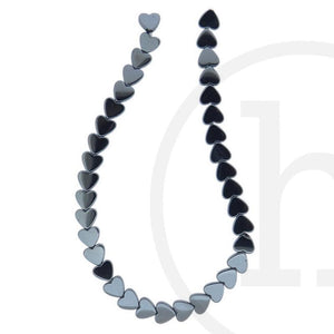 Hematine Heart BeadsBeads by Halcraft Collection