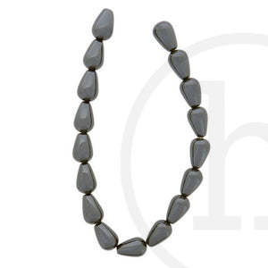 Hematine Teardrop - Straight HoleBeads by Halcraft Collection