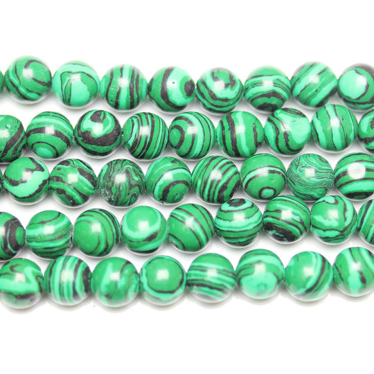 Imitation Malachite Round BeadsBeads by Halcraft Collection