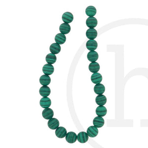 Imitation Malachite RoundBeads by Halcraft Collection