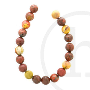 Semi-Precious, Stone Mookiate RoundBeads by Halcraft Collection
