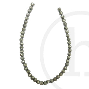Pyrite Faceted Round 4mm