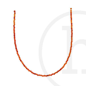 Semi-Precious Dyed Red Agate RoundBeads by Halcraft Collection