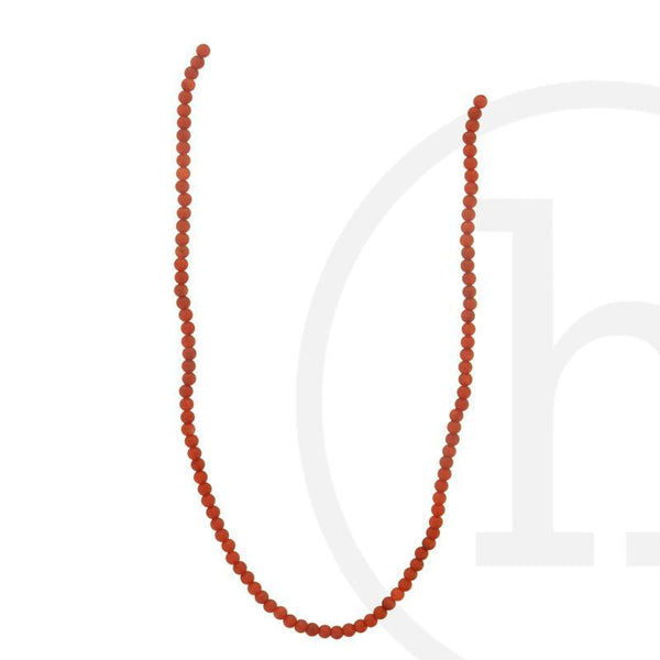 Red Dyed Bamboo Coral Round