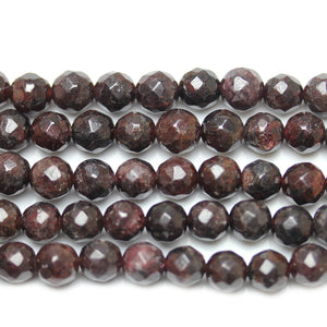 Red Garnet ( C Grade) Faceted Round BeadsBeads by Halcraft Collection