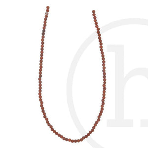 Semi-Precious, Stone Red Jasper RoundBeads by Halcraft Collection