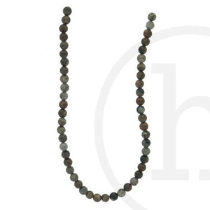 Semi-Precious, Stone Red Picture Jasper RoundBeads by Halcraft Collection