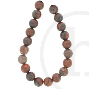 Semi-Precious Stone Red Picture Jasper Round BeadsBeads by Halcraft Collection