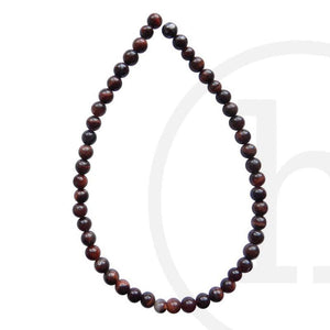 Semi-Precious Stone Red Tiger Eye (B Grade) Round BeadsBeads by Halcraft Collection