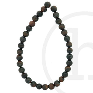 Semi-Precious, Stone Red Tiger Eye (B Grade) RoundBeads by Halcraft Collection