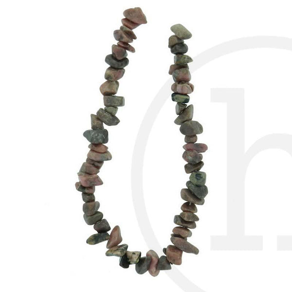 Stone Beads, Stone, Stone Bead, Stone, Beads, Semi-precious, Stone, Pink, Chips, Rhodonite, Rose
