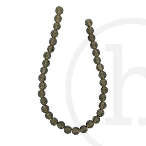 Smokey Quartz Faceted RoundBeads by Halcraft Collection