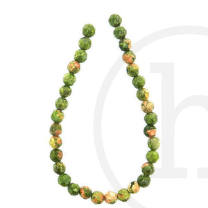 Unakite Faceted Round 6mm