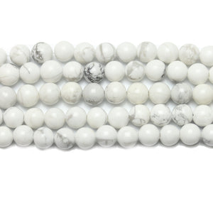 White Howlite Round BeadsBeads by Halcraft Collection